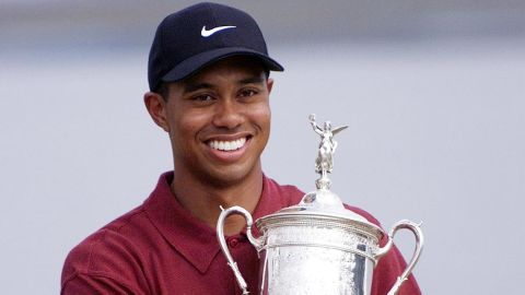 One of his most remarkable feats was winning his first US Open by an unprecedented 15 shots at Pebble Beach, California, in 2000, sparking a streak never seen before or since.