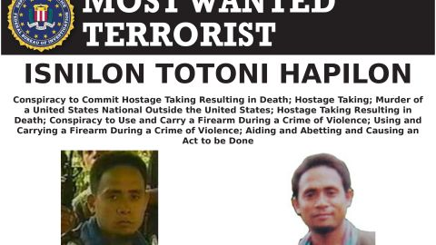 ISIS emir for Southeast Asia Isnilon Hapilon has a $5 million bounty on his head from the FBI.
