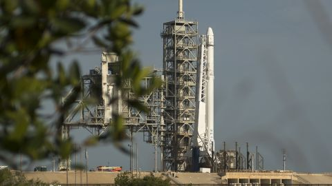CAPE CANAVERAL, FL - JUNE 01:  In this handout provided by the National Aeronautics and Space Administration (NASA), the SpaceX Falcon 9 rocket, with the Dragon spacecraft onboard, is seen shortly after being raised vertical at Launch Complex 39A at NASA's Kennedy Space Center on June 1, 2017 in Cape Canaveral, Florida. Dragon is carrying almost 6,000 pounds of science research, crew supplies and hardware to the International Space Station in support of the Expedition 52 and 53 crew members. The unpressurized trunk of the spacecraft also will transport solar panels, tools for Earth-observation and equipment to study neutron stars. This will be the 100th launch, and sixth SpaceX launch, from this pad. Previous launches include 11 Apollo flights, the launch of the unmanned Skylab in 1973, 82 shuttle flights and five SpaceX launches. (Photo by Bill Ingalls/NASA via Getty Images)