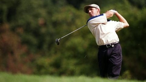 Aged just 19, making his debut at a major, Garcia finished second to Tiger Woods at the USPGA Championships. It was to be the first of four runner-up finishes for the Spaniard at the sport's four marquee tournaments.