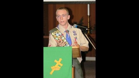 Gillen Washington, here as an Eagle Scout in high school, had been getting medication for an immunodeficiency disease since 2011.