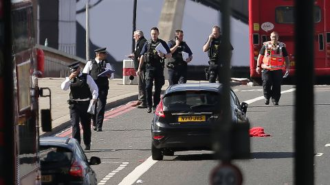 UK police officers on Sunday continue their investigation into the terror attacks on London Bridge and in a nearby restaurant district. The attacks on June 3 came days before a general election and two weeks after 22 people were killed when a suicide bomber targeted an Ariana Grande concert in Manchester.