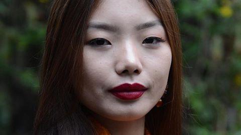 Tenzin Paldon, the winner of Miss Tibet 2017.