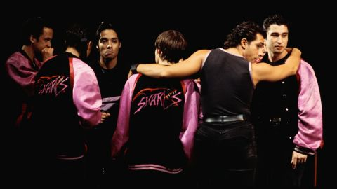 """Puerto Rican identity has played a prominent role in popular culture and entertainment. Hip-hop and breakdancing grew out of a multicultural New York landscape that included African-American and Puerto Rican youths. Here, a production of """"West Side Story"""" features the fleet-footed Puerto Rican Sharks gang."""