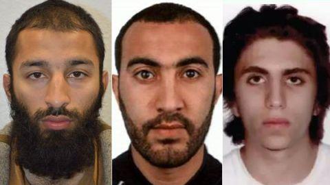 Left to right: Khuram Butt, Rachid Redouane, Youssef Zaghba
