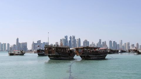 A general view taken on June 5, 2017 shows boats sitting in the port along the corniche in Doha.  Arab nations including Saudi Arabia and Egypt cut ties with Qatar, accusing it of supporting extremism, in the biggest diplomatic crisis to hit the region in years. / AFP PHOTO / STR        (Photo credit should read STR/AFP/Getty Images)
