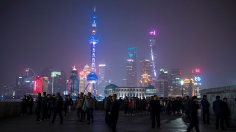 The skyline in Pudong, Shanghai -- Lingang city will stand in this district.