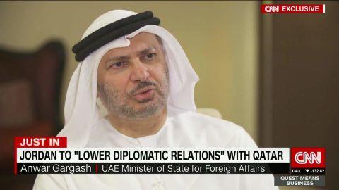 qatar relations anwar gargash uae intv defterios_00005703.jpg