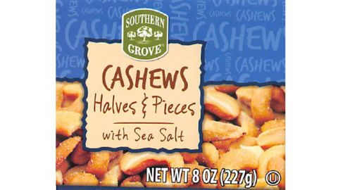 Southern Grove Cashews Halves and Pieces with Sea Salt are being recalled.