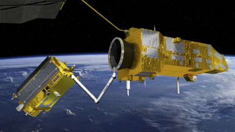 Another potential solution being explored by the ESA  is the use of a robotic arm.
