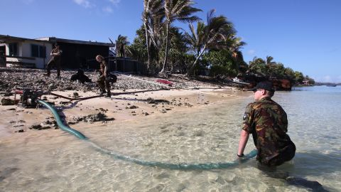 In 2011, members of the Royal New Zealand defense, helped Tuvalu deal with a drinking water shortage.