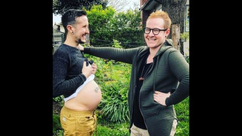 Trystan Reese is a trans man who had a baby with his partner of seven years, Biff Chaplow.