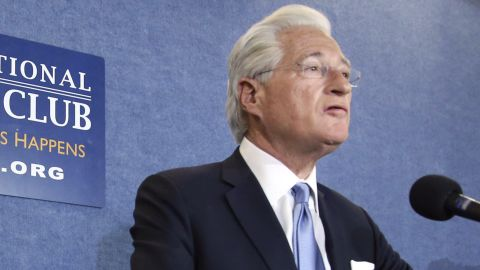 President Donald Trump's personal attorney Marc Kasowitz, speaks at the National Press Club in Washington, Thursday, June 8, 2017, about the testimony of former FBI Director James Comey. (AP Photo/Pablo Martinez Monsivais)