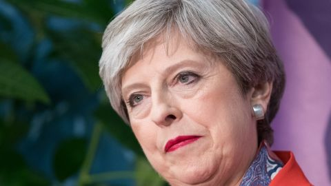 MAIDENHEAD, ENGLAND - JUNE 09:  British Prime Minister and Conservative Party leader Theresa May speaks at the declaration at the election count at the Magnet Leisure Centre on June 9, 2017 in Maidenhead, England. After a snap election was called, the United Kingdom went to the polls yesterday following a closely fought election. The results from across the country are being counted and an overall result is expected in the early hours.  (Photo by Matt Cardy/Getty Images)