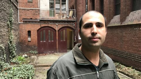 Fares Naem, a Syrian refugee who was attacked by far-right extremists at a tram stop in Berlin. 'It was not the physical assault that bothered me the most, it was more that there are people out there who have racist ideas in their minds and people who did not help'.