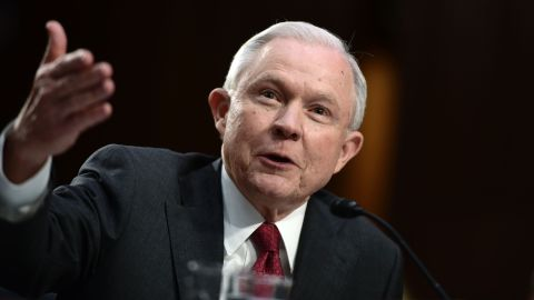Attorney General Jeff Sessions testifies during a US Senate Select Committee on Intelligence hearing on Capitol Hill in Washington, DC, June 13, 2017.