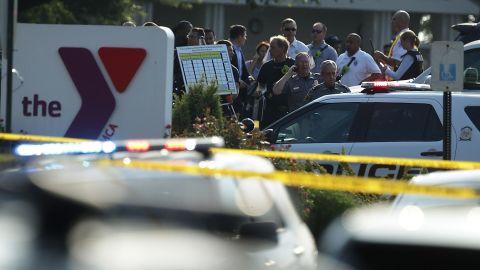 Investigators gather near the scene.