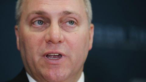 WASHINGTON, DC - OCTOBER 21:  House Majority Whip Steve Scalise (R-LA) speaks during a news conference following the weekly House GOP conference meeting in the U.S. Capitol October 21, 2015 in Washington, DC. Speaker of the House John Boehner (R-OH) announced that the internal Republican election for speaker will be Oct. 28, and the floor election will be Oct. 29.  (Photo by Chip Somodevilla/Getty Images)