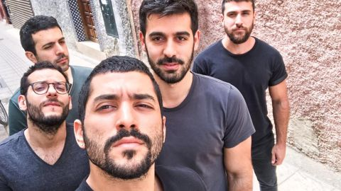 Jordan banned the band because lead singer Hamed Sinno (third from left) openly identifies as queer.