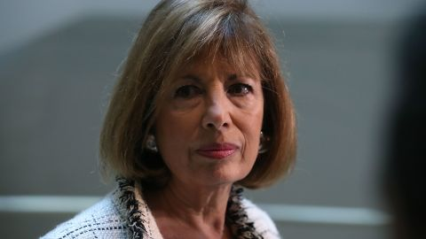 WASHINGTON, DC:  House Intelligence Committee member Rep. Jackie Speier (D-CA) speaks to reporters after leaving a closed meeting with fellow committee members, on Capitol Hill March 23, 2017 in Washington, DC. (Mark Wilson/Getty Images)