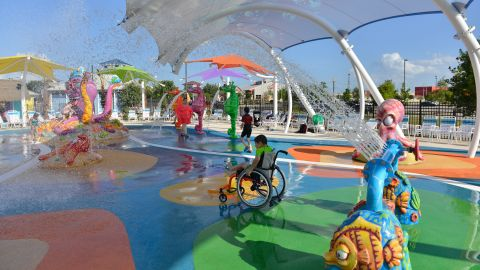The main goal of Morgan's Inspiration Island: inclusion for those with and without disabilities.