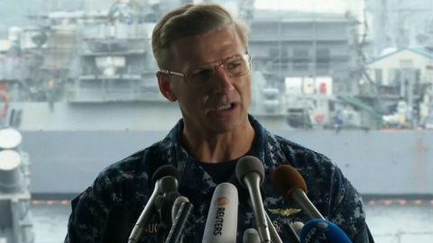 navy presser