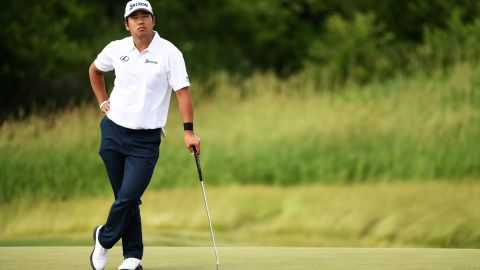Japan's Hideki Matsuyama set the clubhouse lead at 12 under after a final round of 66. He ended up second, four shots adrift of Koepka, and tied with Harman.