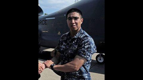 Gunner's Mate 2nd Class Noe Hernandez, 26, from Weslaco, Texas.