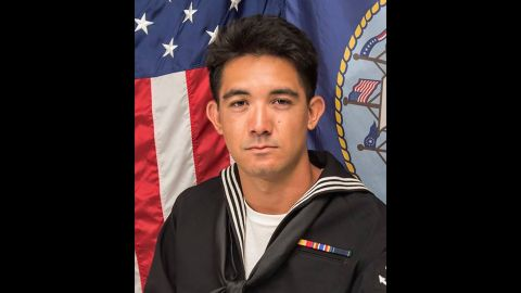 Yeoman 3rd Class Shingo Alexander Douglass, 25, from San Diego, California.