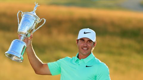 Powerful Floridian Brooks Koepka won his maiden major title with victory in the 2017 US Open at Erin Hills.
