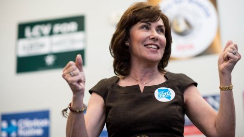 UNITED STATES - NOVEMBER 5: Jacky Rosen, Democratic candidate for Nevadas 3rd Congressional district, speaks to campaign volunteers at a campaign office in Las Vegas, Nevada on Saturday, Nov. 5 , 2016. (Photo By Bill Clark/CQ Roll Call)