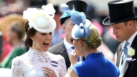 The Duchess of Cambridge, Prince William and Zara Philllips, daughter of Princess Anne, can also be spotted.