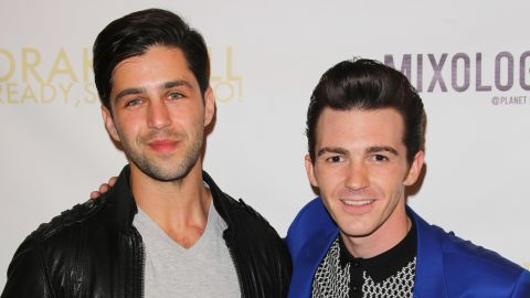 """Josh Peck and Drake Bell attend Drake Bell's album release party for """"Ready Steady Go!"""" at Mixology101 & Planet Dailies on April 17, 2014, in Los Angeles, California."""