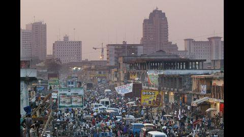 A view of Kinshasa city