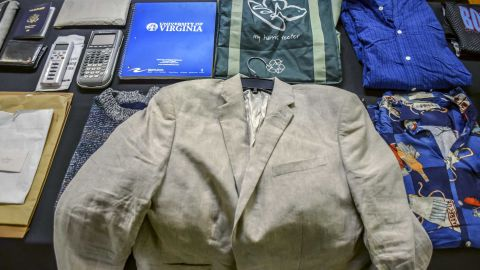 The funeral included a display of belongings Otto Warmbier took with him while traveling abroad.