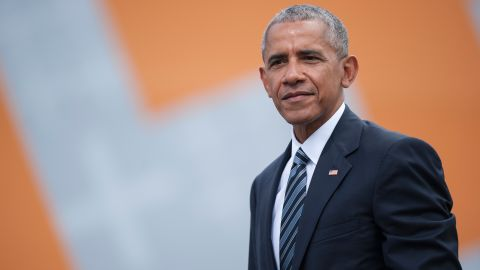 BERLIN, GERMANY - MAY 25: Former President of the United States of America Barack Obama after a discussion about democracy at Church Congress on May 25, 2017 in Berlin, Germany. Up to 200,000 faithful are expected to attend the five-day congress in Berlin and Wittenberg that this year is celebrating the 500th anniversary of the Reformation. (Photo by Steffi Loos/Getty Images)