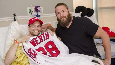 Matt Mika received a visit from Washington Nationals outfielder Jayson Werth on June 23.