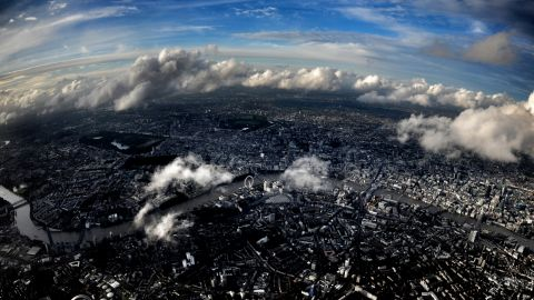 An aerial view of central London on October 18, 2012.