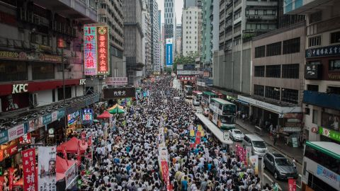 Thousands of Hong Kongers take to the streets every year on July 1 to call for democracy.