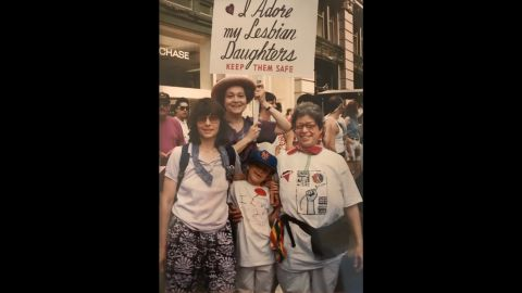 Goldin's daughters don't live in New York, so the family has been to only one pride parade together. Goldin usually attends with friends.