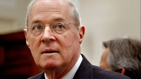 U.S. Supreme Court Justice Anthony Kennedy prepares to testify before the House Financial Services and General Government Subcommittee on Capitol Hill March 8, 2007 in Washington, DC.