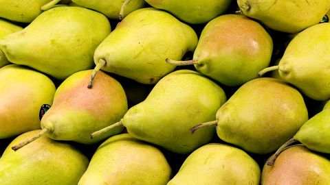 At 6 grams each, pears have some of the highest fiber content in the fruit family. Eat them raw, in salads or poached in wine or pomegranate juice for dessert.<br />