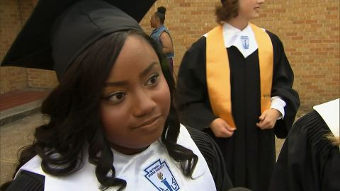 Jasmine Shepard, co-valedictorian of Cleveland High School in Cleveland, Mississippi.