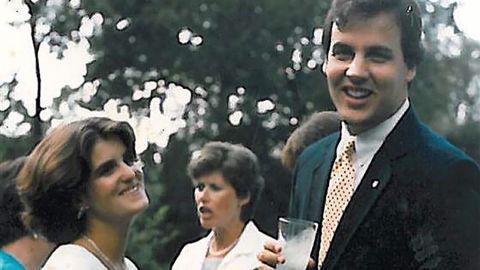 """Christie met his wife, Mary Pat, at the University of Delaware. Christie <a href=""""https://www.instagram.com/p/z2lVyuzeo2/"""" target=""""_blank"""" target=""""_blank"""">posted this picture</a> of them together in 2015, 30 years after it was taken. The two were married in 1986, and they have four children."""