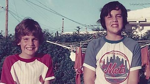"""Christie, right, stands with his brother, Todd, in this old photo <a href=""""https://www.instagram.com/p/8wgsQjzetr/"""" target=""""_blank"""" target=""""_blank"""">he posted to Instagram</a> in October 2015. Christie was born in Newark, New Jersey, in 1962. His family later moved to Livingston, New Jersey, where he attended high school before enrolling at the University of Delaware."""