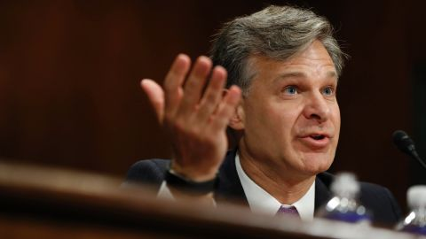 FBI Director nominee Christopher Wray testifies on Capitol Hill in Washington, Wednesday, July 12, 2017, at his confirmation hearing before the Senate Judiciary Committee. (AP Photo/Pablo Martinez Monsivais)