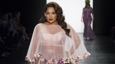 """A design from Ashley Nell Tipton's collection of plus-sized clothing, as shown on the Season 14 finale of """"Project Runway."""""""