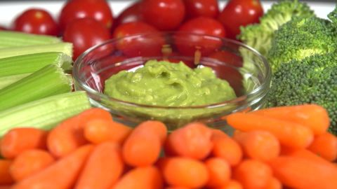 Swapping vegetables for chips will save fat and calories.