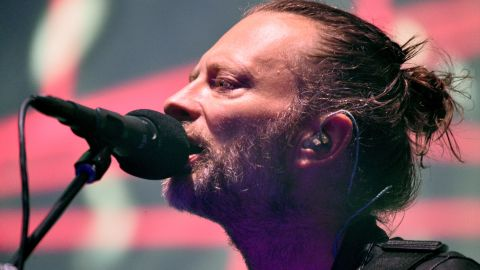 INDIO, CA - APRIL 14:  Musician Thom Yorke of Radiohead performs on the Coachella Stage during day 1 of the Coachella Valley Music And Arts Festival (Weekend 1) at the Empire Polo Club on April 14, 2017 in Indio, California.  (Photo by Trixie Textor/Getty Images for Coachella)