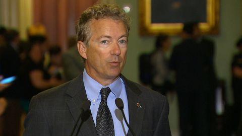 Sen. Rand Paul speaks on Capitol Hill.